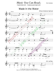 "Click to Enlarge: ""Wade In the Water,"" Pitch Number Format"