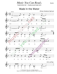 "Click to Enlarge: ""Wade In the Water,"" Rhythm Format"