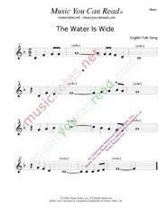 """The Water Is Wide,"" Music Format"