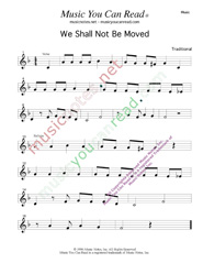 """We Shall Not Be Moved,"" Music Format"