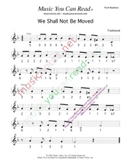 "Click to Enlarge: ""We Shall Not Be Moved,"" Pitch Number Format"