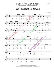 "Click to Enlarge: ""We Shall Not Be Moved,"" Rhythm Format"
