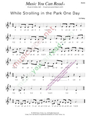 "Click to enlarge: ""While Strolling in the Park One Day,"" Beats Format"