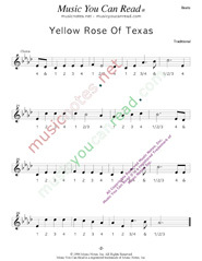 "Click to enlarge: ""Yellow Rose of Texas,"" Beats Format"