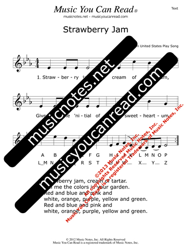 """Strawberry Jam"" Lyrics, Text Format"