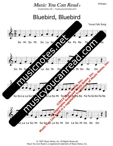Bluebird Bluebird Traditional Lyrics Music Notes Inc Music You