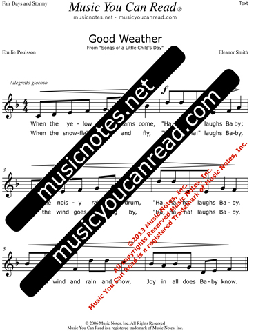 """Good Weather"" Lyrics, Text Format"