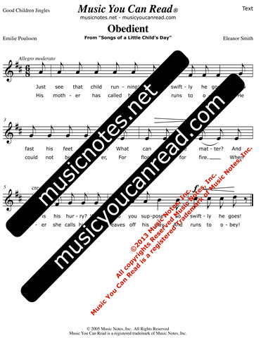 """Obedient"" Lyrics, Text Format"