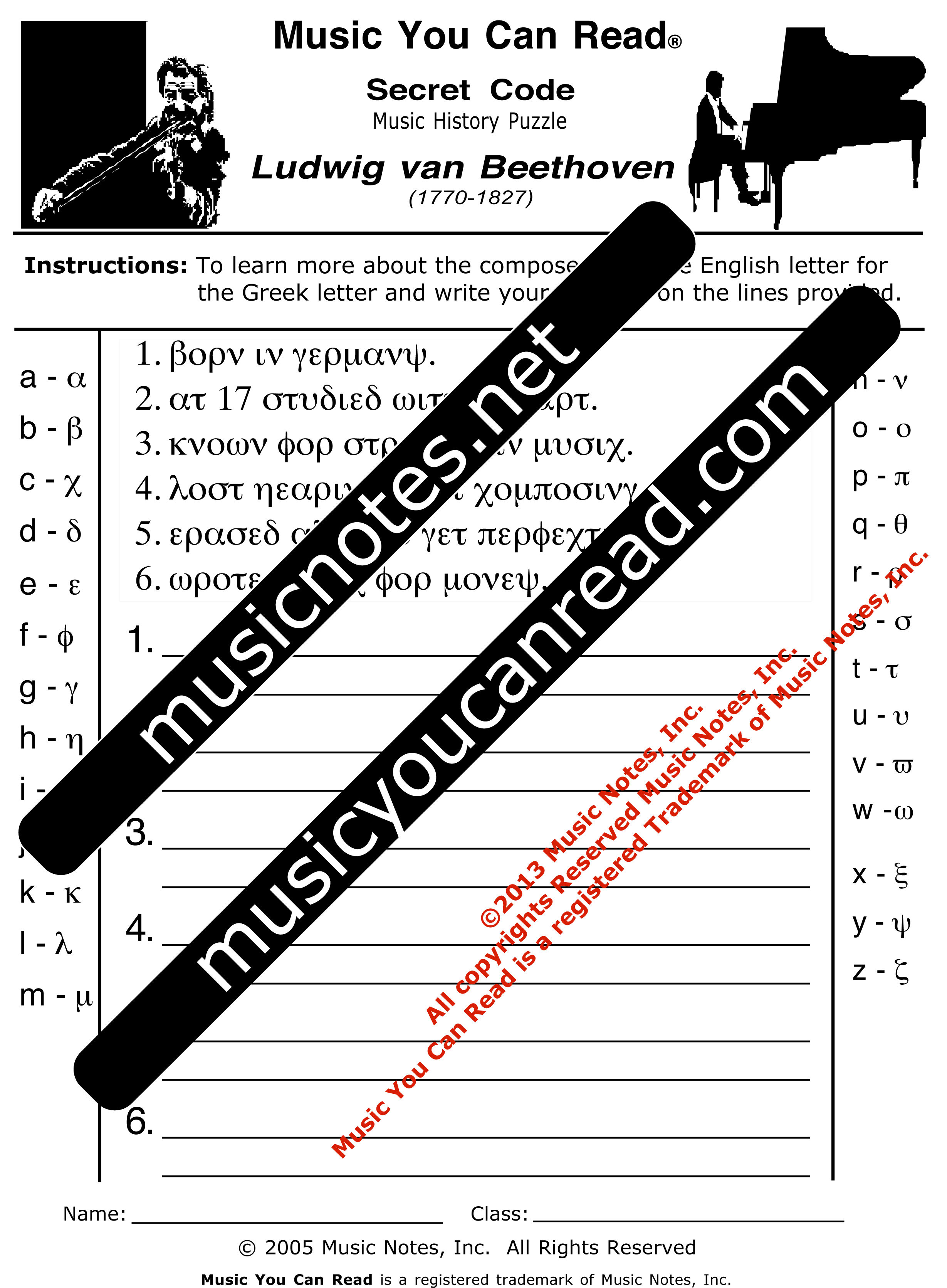 Secret Code – Ludwig van Beethoven