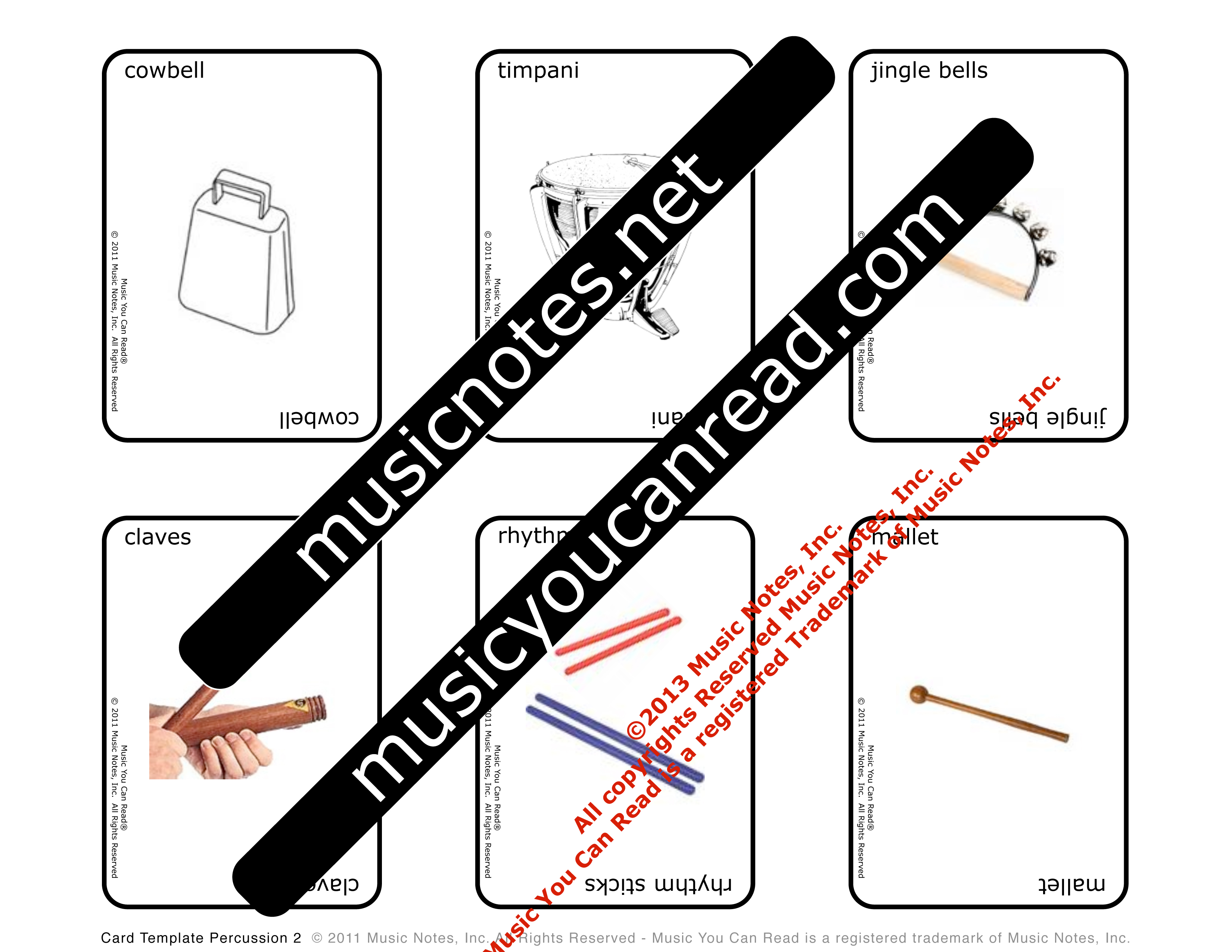 Playing Cards – Percussion Instruments #3