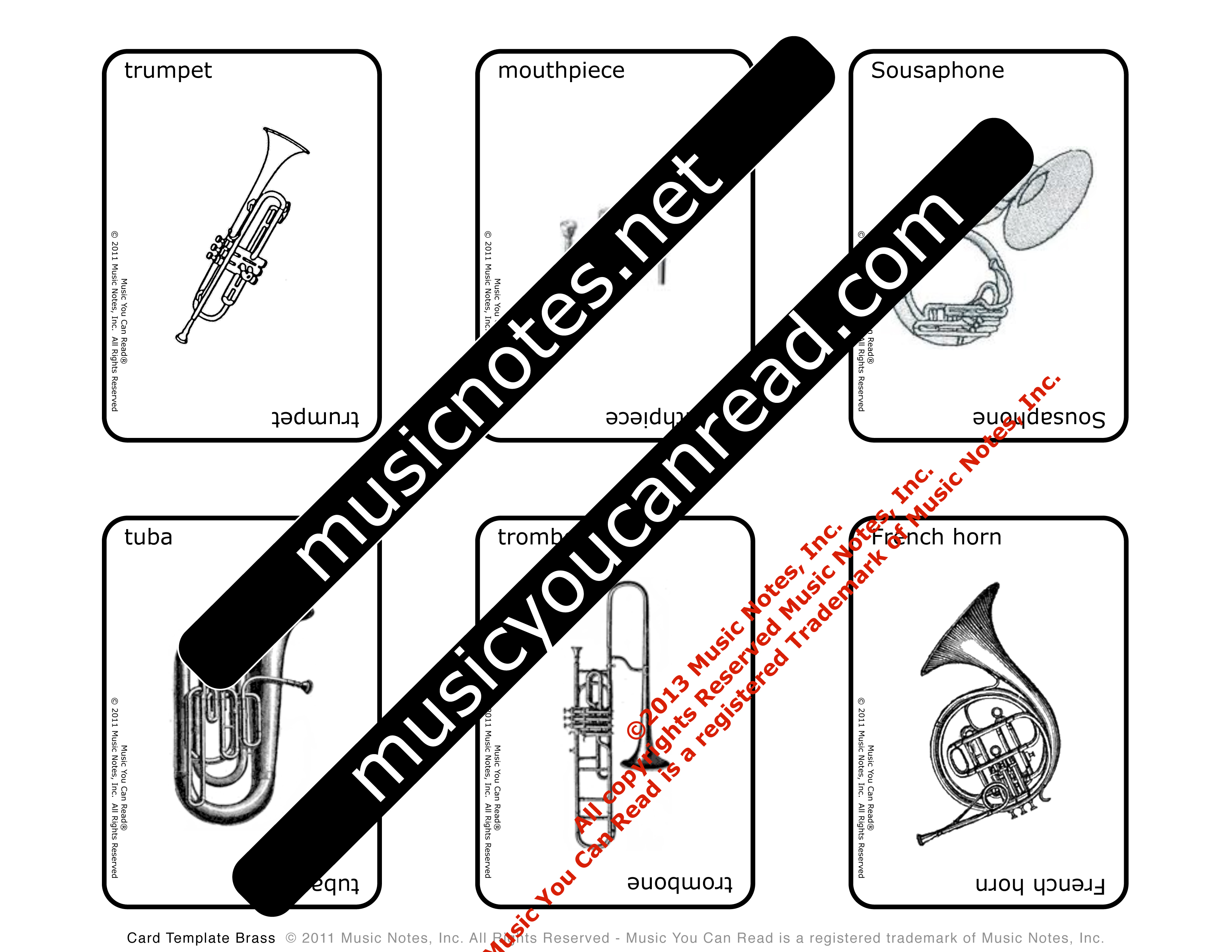 Playing Cards – Brass Instruments