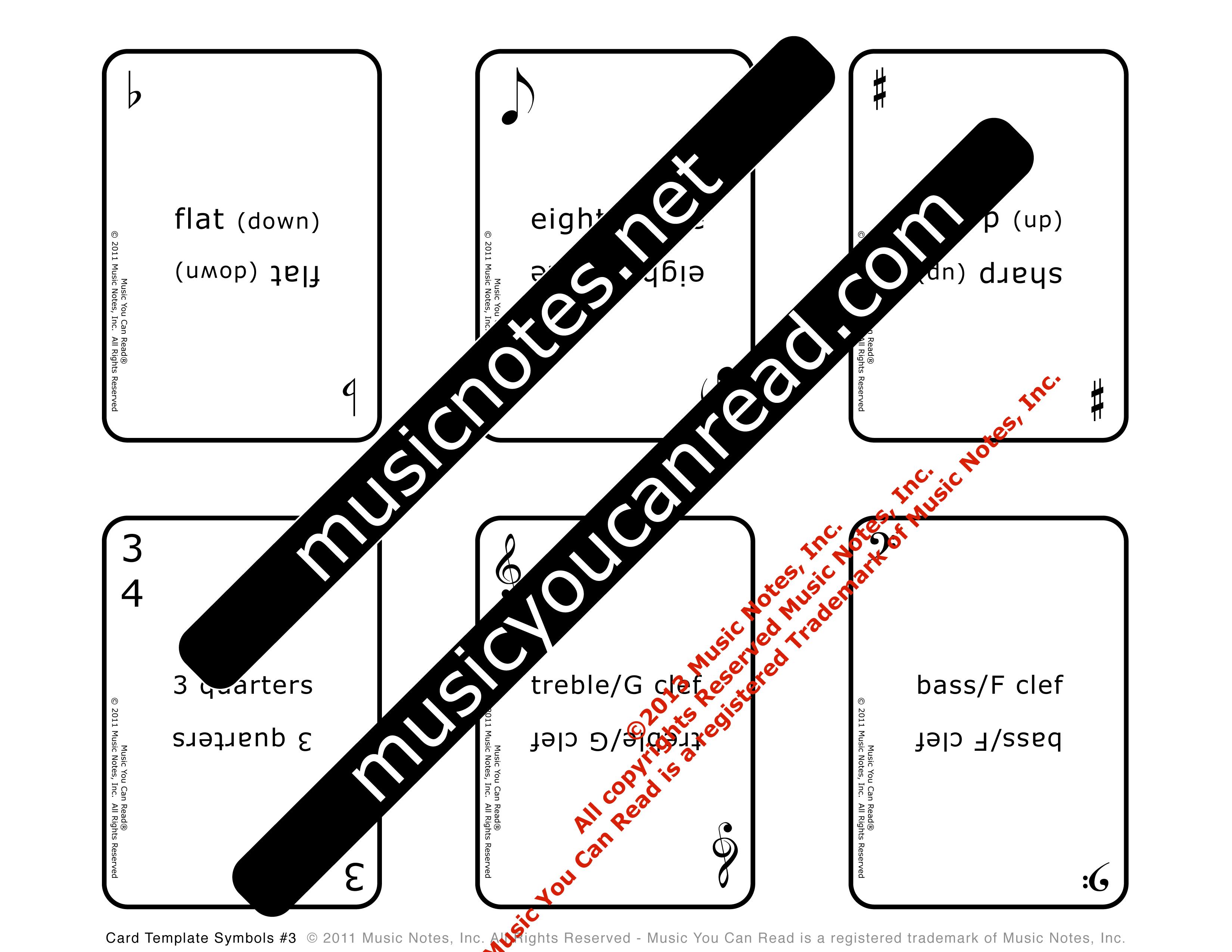 Playing Cards – Music Symbols #3